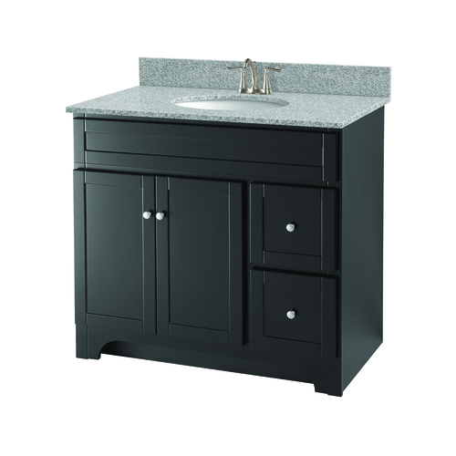 """Worthington"" Vanity without Top 36"" - 2 Doors and 2 Drawers  - Espresso"