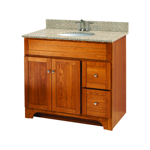 """Worthington"" Vanity without Top 36"" - 2 Doors and 2 Drawers  - Oak"