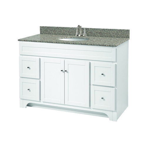 """Worthington"" Vanity without Top 48"" - 2 Doors and 4 Drawers  - White"