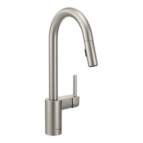 "One-Handle Pull-Down Kitchen Faucet - ""Align"" - Stainless"
