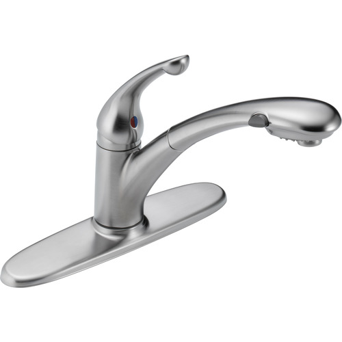 "Single Handle Kitchen Faucet - ""Signature"" - Arctic Stainless"