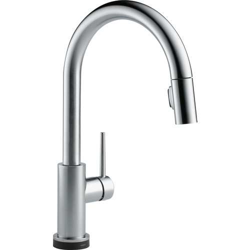 "Single Handle Kitchen Faucet - ""Trinsic"" - Arctic Stainless"