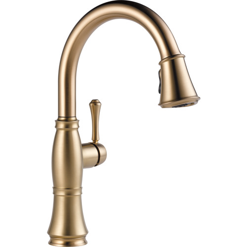 "Single Handle Kitchen Faucet - ""Cassidy"" - Champagne Bronze"