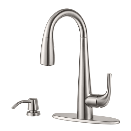 "Pull-Down Bar Faucet - ""Alea"" - Stainless Steel"