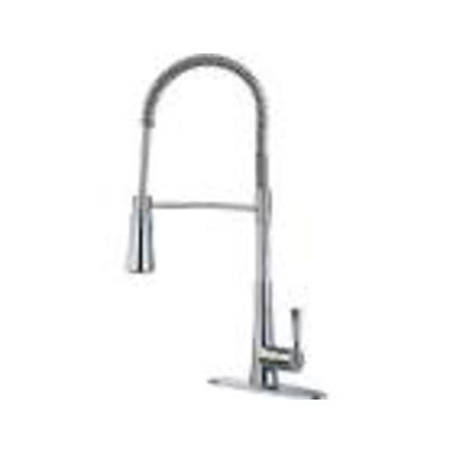 "Kitchen Pull-Down Spring Faucet - ""Zuri"" - Chrome"