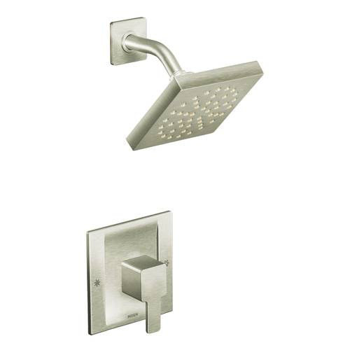 "Shower with Moentrol(R) - ""90 Degree"" - Brushed Nickel - Rough plumbing not included"