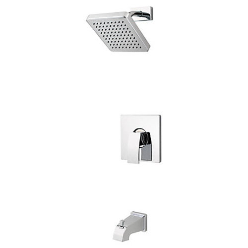 "Tub and Shower Faucet - ""Kenzo"" - Chrome - Rough plumbing not included"