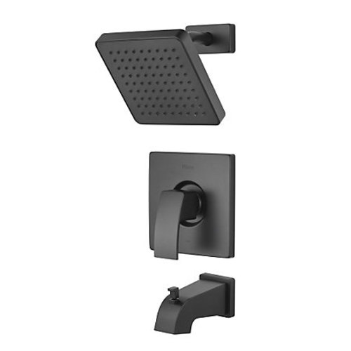 "Tub and Shower Faucet - ""Kenzo"" - Matte Black - Rough plumbing not inclued"