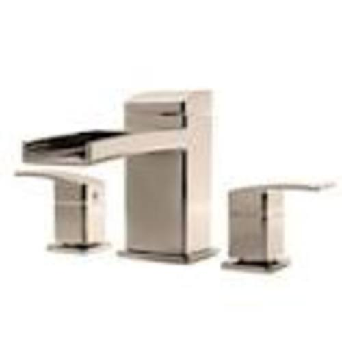 "Roman Tub Faucet - ""Kenzo"" - 3-Hole - Brushed Nickel - Rough plumbing not included"