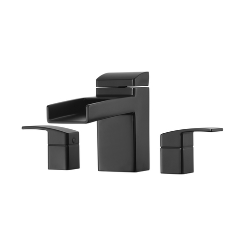 "Roman Tub Faucet - ""Kenzo"" - 3-Hole - Matte Black - Rough plumbing not included"