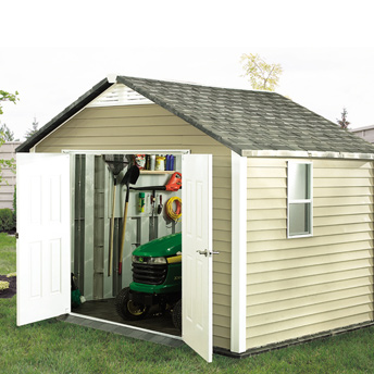 Build a ready-to-assemble shed.