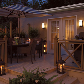 Effets d 39 clairage ext rieurs int ressants guides de for Couvre plancher pour patio exterieur