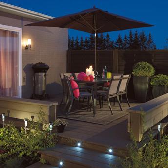 Effets d 39 clairage ext rieurs int ressants guides de for Lumiere terrasse exterieure