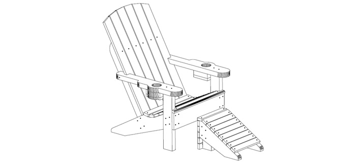 Elevation – outdoor-children-chair