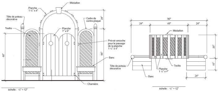 fabriquer une tonnelle plans de construction rona. Black Bedroom Furniture Sets. Home Design Ideas
