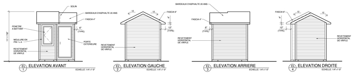 Construire une remise de jardin plans de construction rona for Fenetre pour cabanon