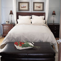 Wooden furniture is great for the bedroom