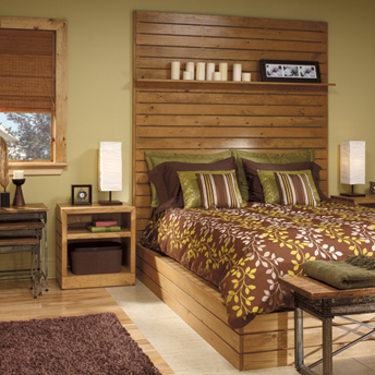 Build bedroom furniture with pine boards construction - Plan pour fabriquer une tete de lit ...