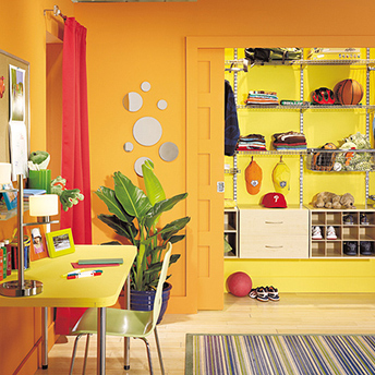 Paint can instantly turn a space from dreary to cheery