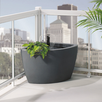 For greater privacy, add lush plants or opt for tinted glass.