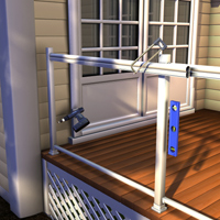 Install bottom and top rails