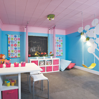 concevoir une salle de jeu attrayante et s curitaire guides de planification rona. Black Bedroom Furniture Sets. Home Design Ideas