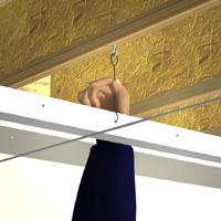 Comment installer luminaire plafond suspendu