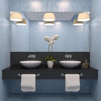L 39 clairage de la salle de bain guides d 39 achat rona for Luminaire salle de bain plafond
