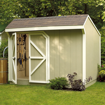 Garden sheds are convenient for easy access to tools.