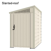 Slanted-roof