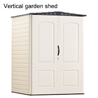 Vertical garden shed