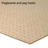 Pegboards and peg hooks