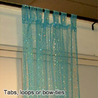 Tabs, loops or bow-ties