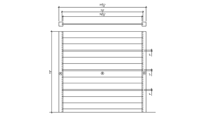Fence panel elevation