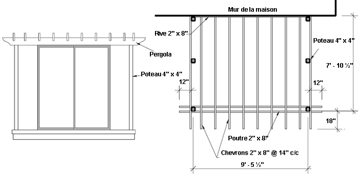 Construire une pergola 1 rona - Plan pour fabriquer une pergola en bois ...