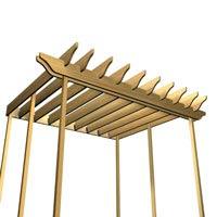 Construire une pergola 1 rona - Comment construire une pergola ...