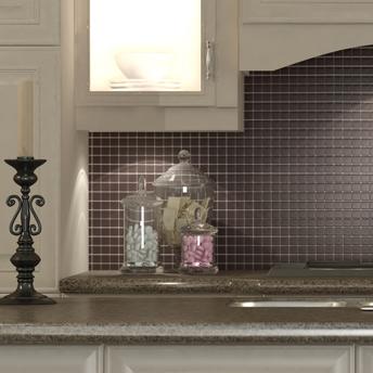 Install mosaic tiles 1 rona - Plaque murale pour salle de bain ...