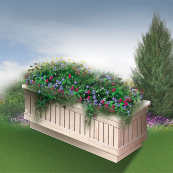 Flower boxes add colour to decks and curb appeal to homes