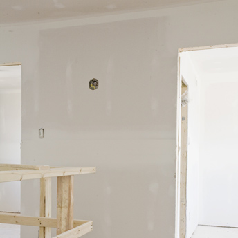 Smooth drywall joints make the perfect wall.