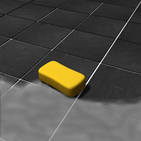 Use a damp sponge to remove the excess grout