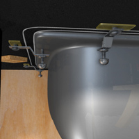 Undermount Bathroom Sink Clips install undermount sink solid-surface count - {1} | rona