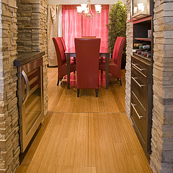 Hardwood floor in a dining room