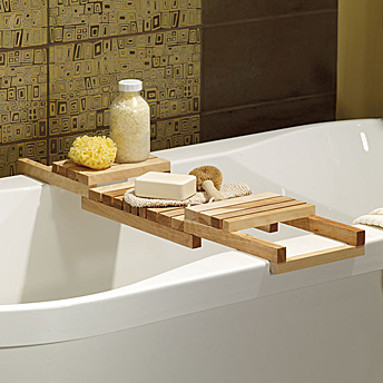 folding with integrated luxury ecofriendly organizer bamboo sides dp spa extendable smartphone caddy tray bathtub natural