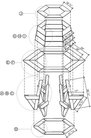 Construire Un Banc Hexagonal En Cedre Plans De Construction Rona
