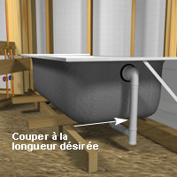 installer un bain avec douche 1 rona. Black Bedroom Furniture Sets. Home Design Ideas
