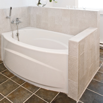 Installer un bain avec douche 1 rona for Comment installer un rideau de douche