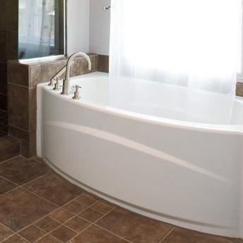 Install a bathtub and shower 1 rona for Villeroy et boch salle de bain