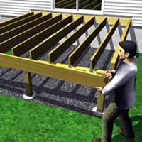 Install the rim joist to support joists