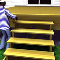 Attach stairs boards to each stringer
