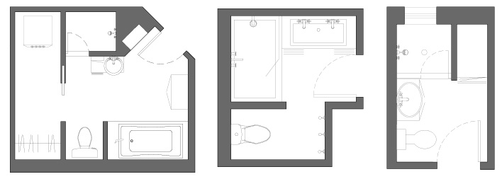 bathroom layouts with separate areas - Bathroom Designs Plans Layouts